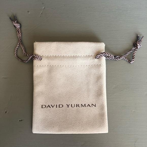 "3.5/"" x 2/"" David Yurman Suede Pouch *NEW* Small Travel Size"